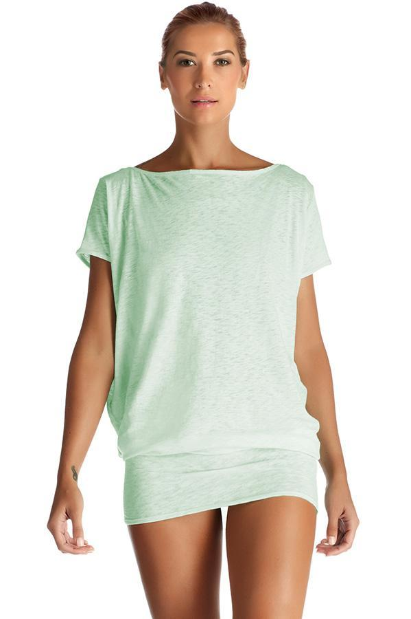 VITAMIN A Eco Cotton Glacier Isla Tunic