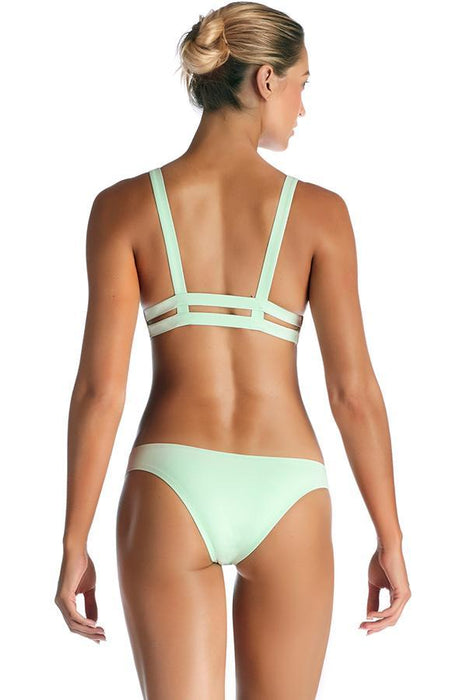 vitamin a bikini hipster bottom provides moderate coverage at rear features caged details at rear