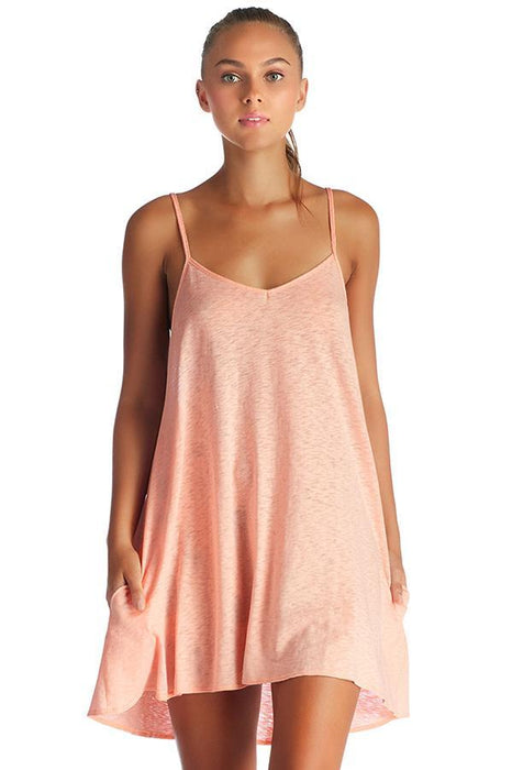 VITAMIN A Paloma Knit Blush Mini Dress