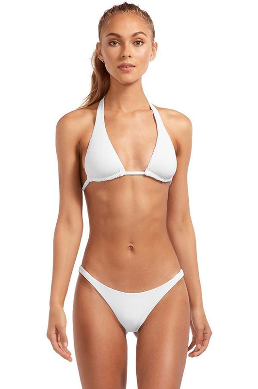 vitamin a swimwear halter bikini top white swimsuit