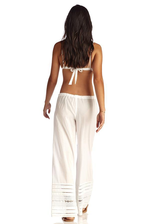 VITAMIN A White Gold Coast Cotton Voile Malia Pant-OrchidBoutique
