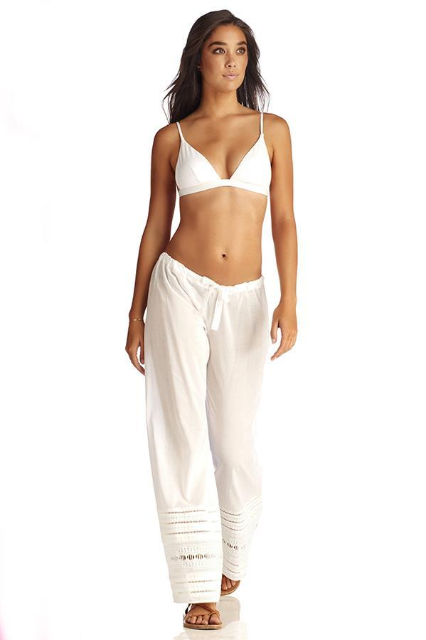 VITAMIN A White Gold Coast Cotton Voile Malia Pant