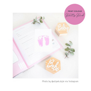 Pink Ink-Less Print Kit (Flat)