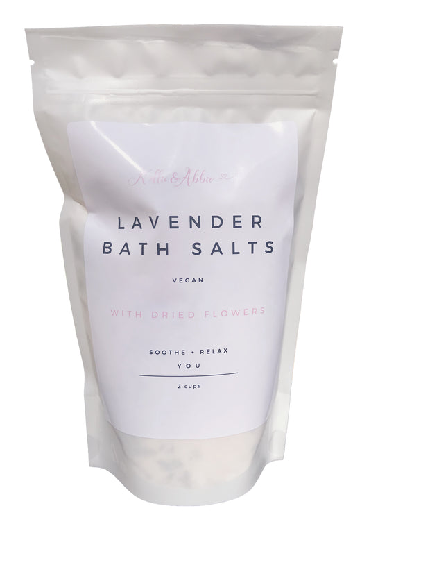 natural bath salts lavender flowers