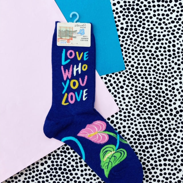 Blue Q Love Who You Love Crew Socks