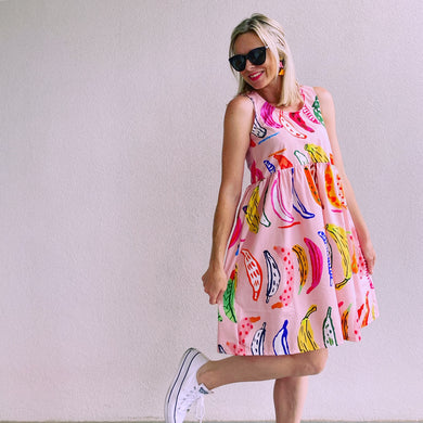 Gone Bananas pink Sundress