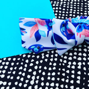 Come Fly With Me white Bow Headband