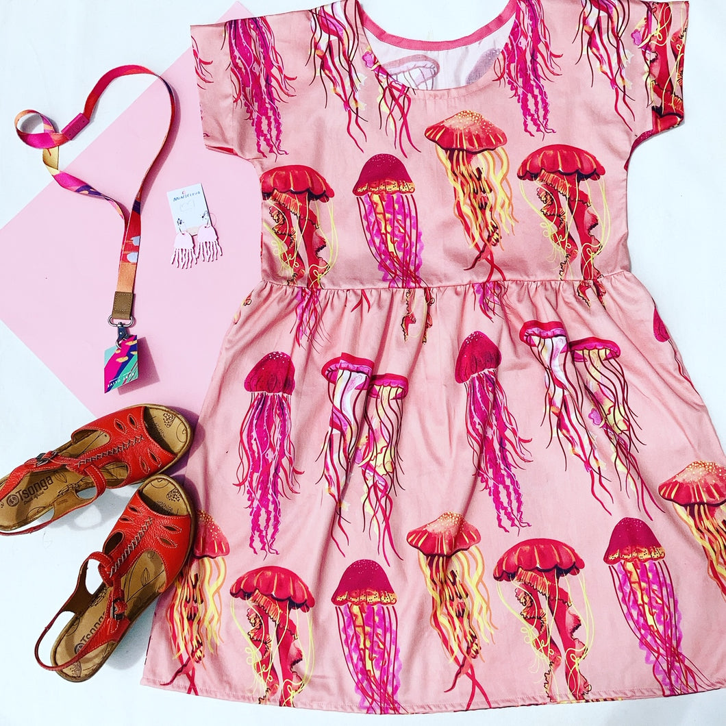 Peach You Wish Jellyfish Relaxed Dress