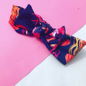 You Wish Jellyfish Bow Headband - navy
