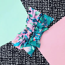 Come Fly With Me green+pink Bow Headband DUO PACK
