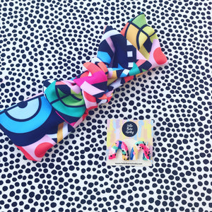 Rainbow Dreams navy gift set - bow headband and studs