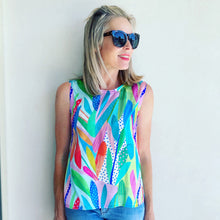 Take It Or Leaf It silk shell top