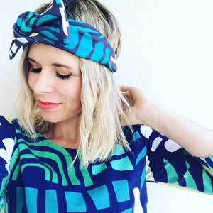 Shape Up Greens Bow Headband