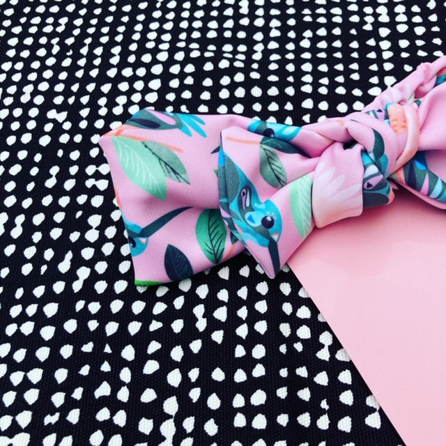 Come Fly With Me pink Bow Headband