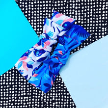 Come Fly With Me white+blue Bow Headband DUO PACK