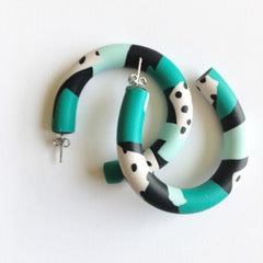 Double Scoop hoops - greens galore