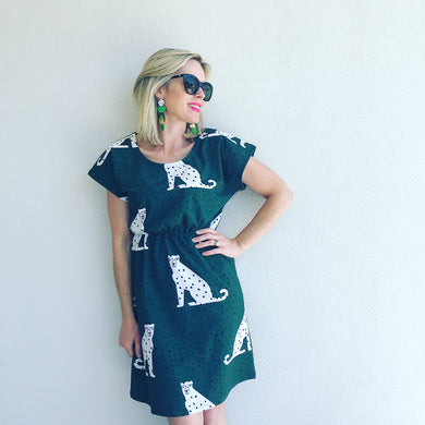 I Spotted You Tee Dress - green