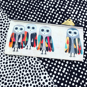 Hoo's Next Blue Q pencil case