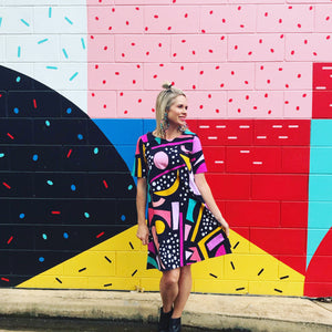 Liquorice Allsorts short sleeve Swing Dress