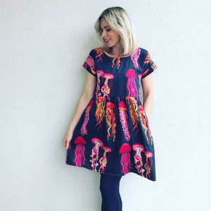 Navy You Wish Jellyfish Relaxed Dress
