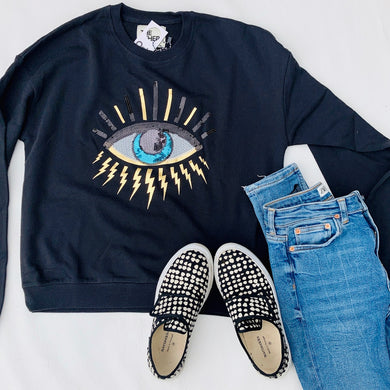 Eye sweater - black
