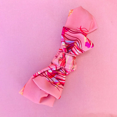 You Wish Jellyfish Bow Headband - peach