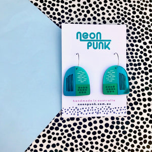 Green Shape Up earrings