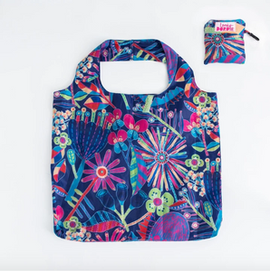 X-Large Fold Up Shopper Bag - Where the Wildflowers Are