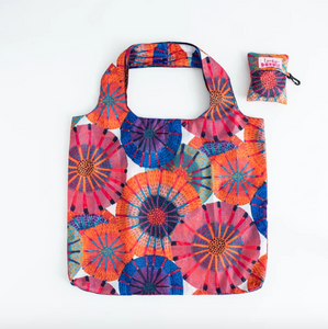 X-Large Fold Up Shopper Bag - Sunshine Flowers
