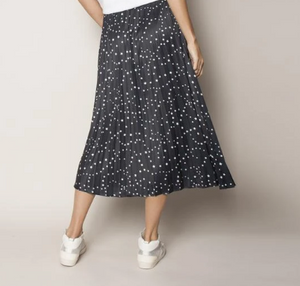 Pleated elastic waist skirt - celestial stars