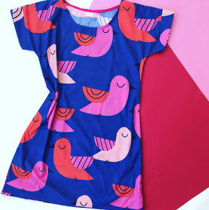 You're So Tweet Blue Relaxed Shift dress