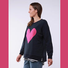 Queen Of Hearts Sweater | stitched heart detail