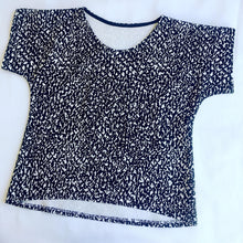 KarlaCola Black and white blouse made from Marimekko fabric.
