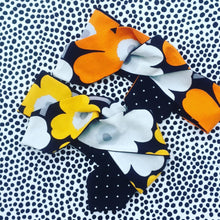 KarlaCola Orange or Yellow Floral Headband Made with Marimekko Fabric.