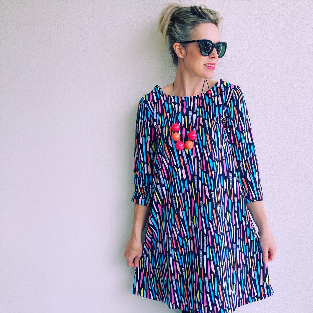 Funfetti Confetti Swing Dress