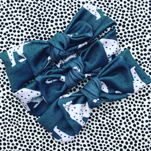 I Spotted You Bow Headband - green