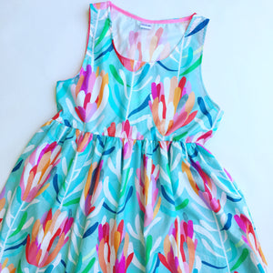 Protea Lovers Sundress Aqua
