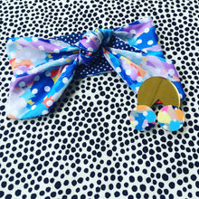 Opposites Abstract Strong Blues Hair Tie