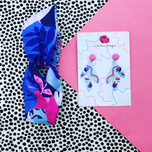 Wild Thing Gift Set Earrings & Headband Blue
