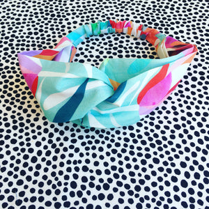 Protea Lovers Aqua Wide Headband