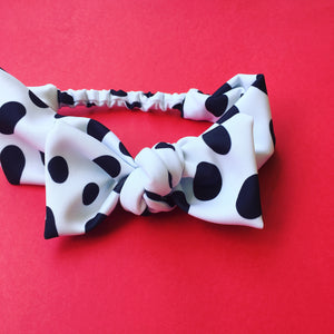 Spotted Bow Headband