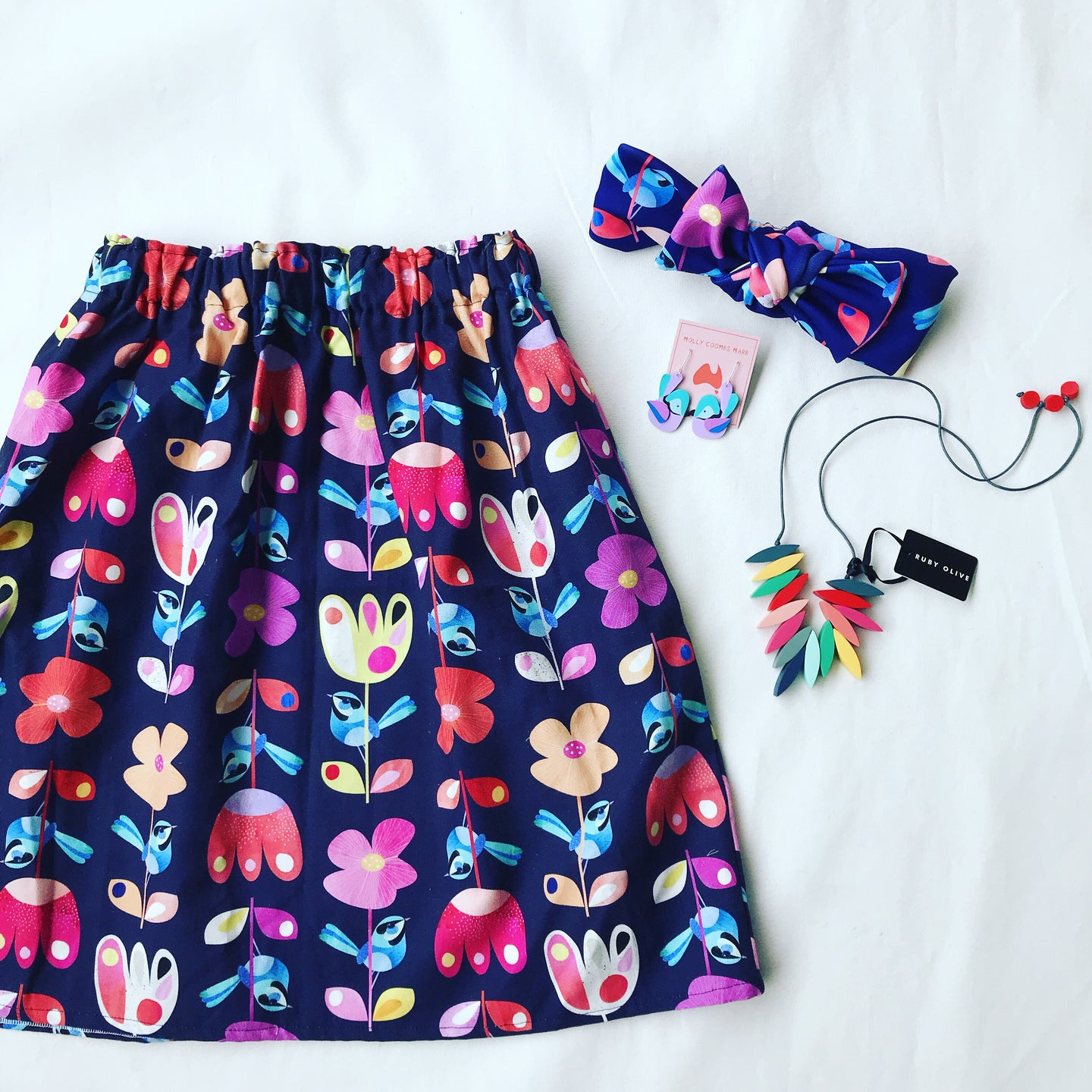 Rainbow Wren Skirt