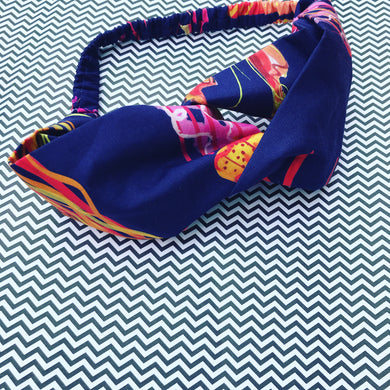 Navy You Wish Jellyfish Twist Headband