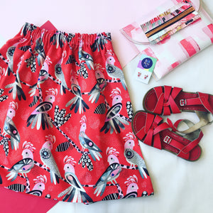 Flock Yeah Skirt Red
