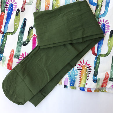 Opaque Tights - Green