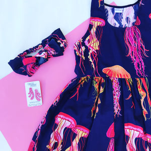 You Wish Jellyfish navy sundress