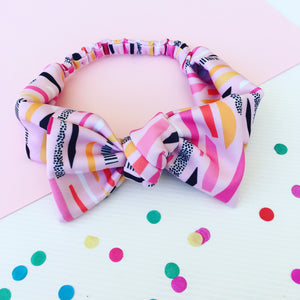 Funfetti Confetti Wide Bow Headband