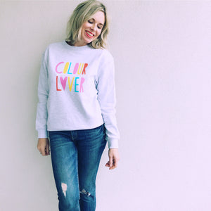 Colour Lover Sweater Sizes S-L Ladies