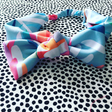 Protea Lovers Aqua Bow Headband