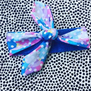 Opposites Abstract Pink & Blue Hair Tie